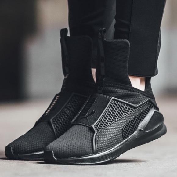 224bc7824fb FENTY Shoes - FENTY PUMA By Rihanna Black High Trainer Sneakers